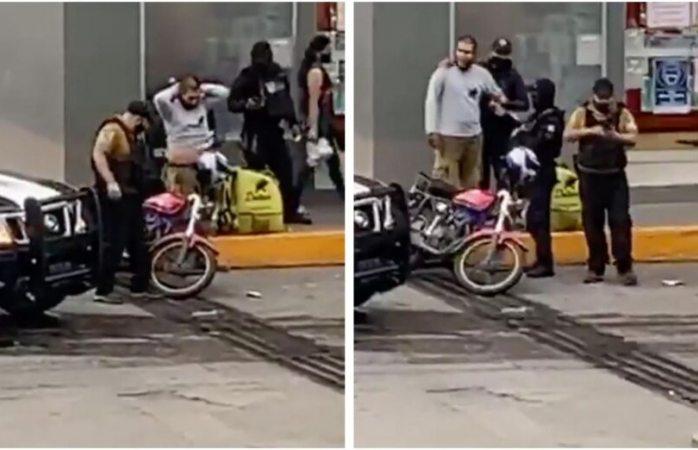 Suspenden a policía de veracruz que sembró droga a motociclista