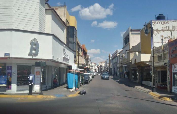 Lucen semivacías las calles de la ciudad