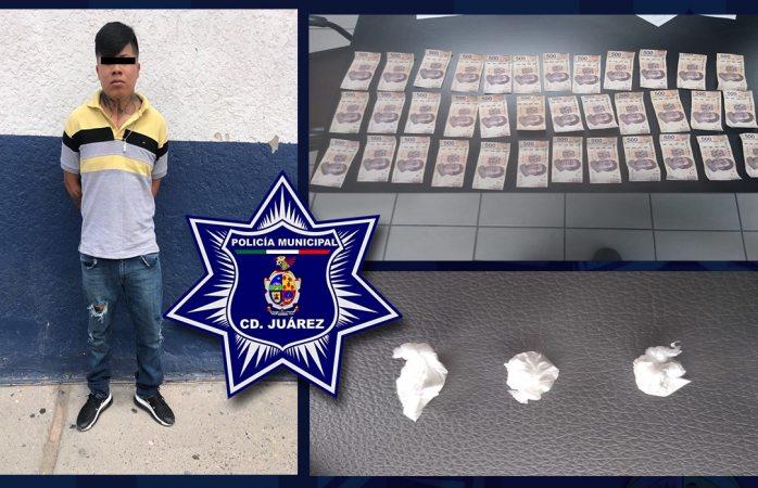 Cae narcomenudista que intentó sobornar a policías