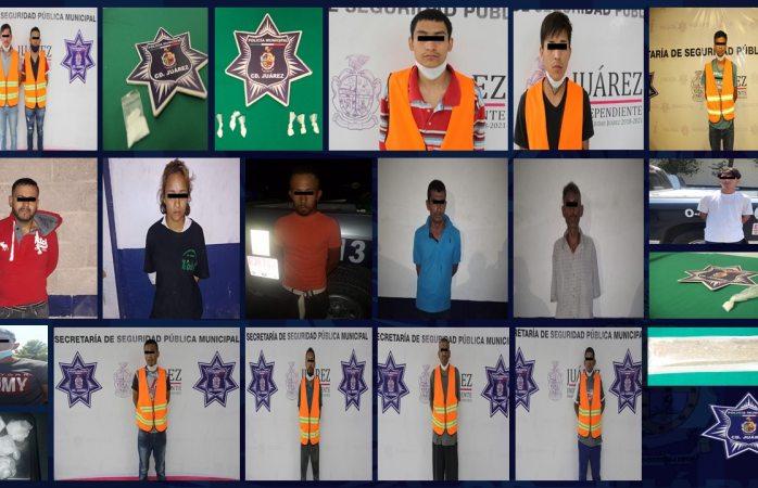 Capturan a 18 presuntos narcomenudistas en juárez