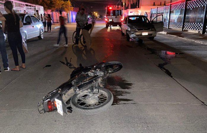 Atropellan a motociclista en la revolución