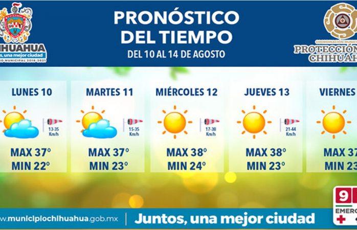 Seguirán altas temperaturas en la semana