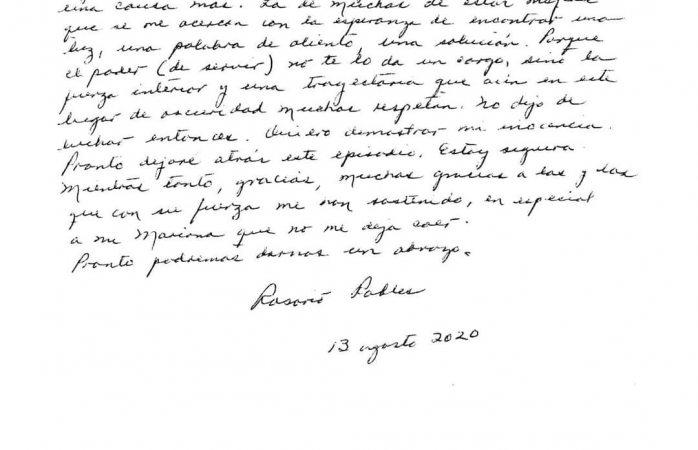 Checa la carta que escribió rosario robles