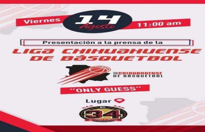 Convoca liga chihuahuense de basquetball a rueda de prensa