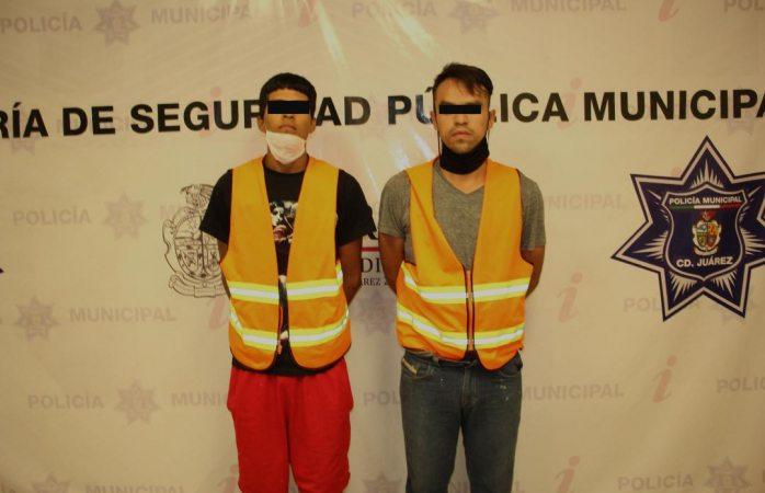 Detienen a dos sujetos por el delito de robo y lesiones