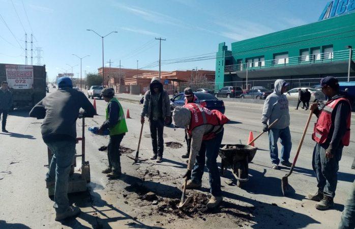 Suman más de 6 mil baches reparados en Juárez