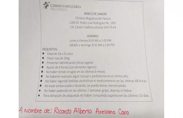 Buscan donadores de sangre y plaquetas