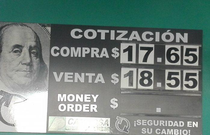 Dólar $18.55