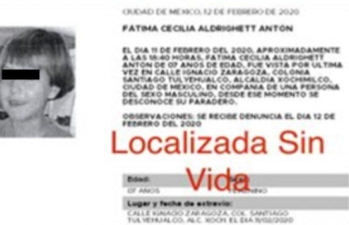 Catean inmueble en xochimilco por asesinato de niña en tláhuac