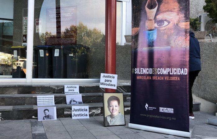 Piden justicia para Miroslava en los juzgados federales