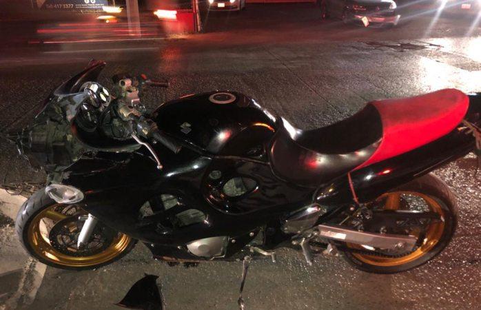 Se impacta motociclista en Las Industrias