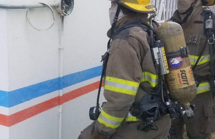 Previenen conato de incendio en secretaría de salud