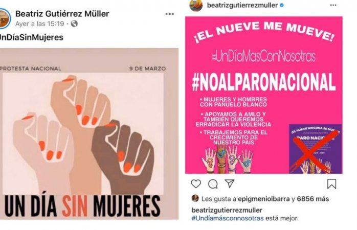 Revira Beatriz Gutiérrez y cambia postura sobre paro de mujeres