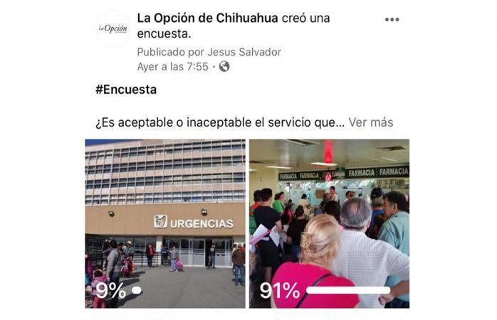 Considera 91% inaceptable el servicio en hospital del imss