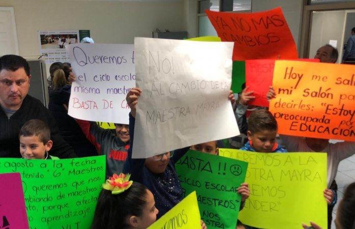 Piden alumnos de primaria no más cambios de docentes