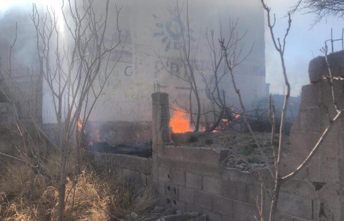 Arde terreno en San Felipe I