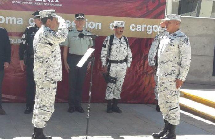 Presentan a nuevo coordinador estatal de la guardia nacional