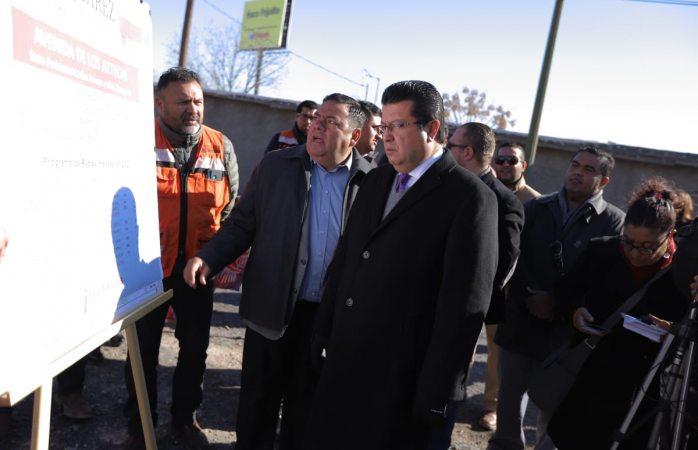 Inaugura Armando Cabada trabajos de repavimentación