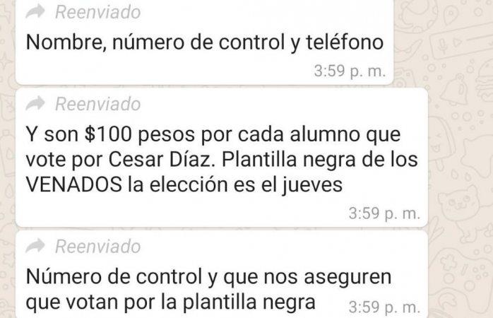 Denuncian compra de votos en votaciones del tecnológico de Parral