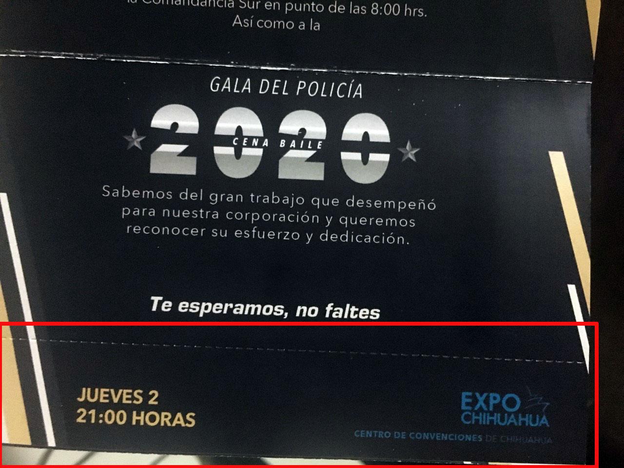 INVITAN A POLIS RETIRADOS A FESTEJO, PERO NO A LAS RIFAS