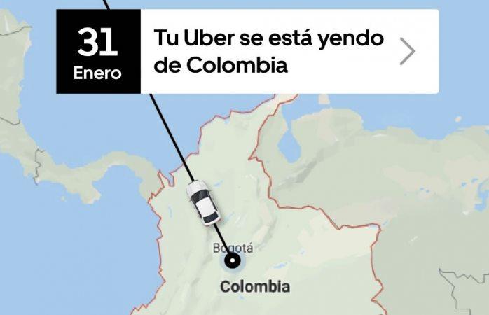 Uber pierde juicio contra taxistas y dejará de dar servicio en Colombia