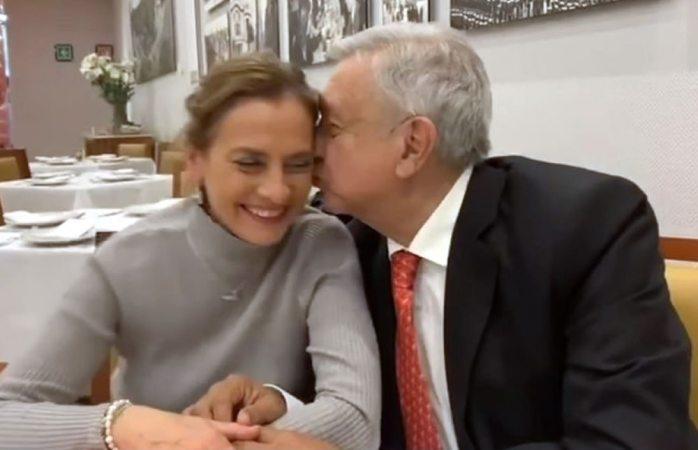 Amlo celebra el cumpleaños de su esposa