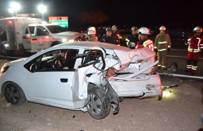 Choque en carretera a Juárez deja 3 lesionados de consideración