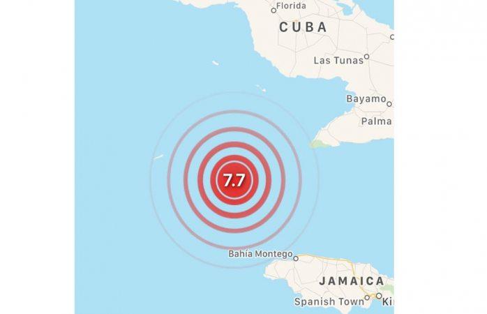 Alertan por tsunami en Cuba, reportan sismo de magnitud 7.7