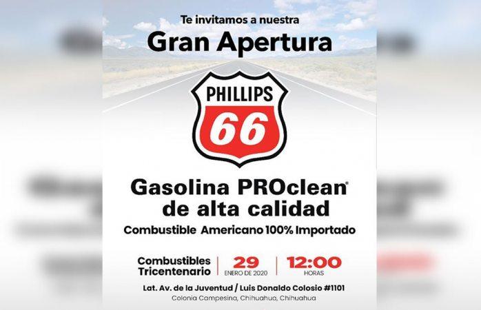 Invitan a apertura de la gasolinera Phillips 66