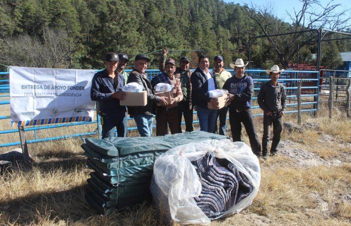 Continúa entrega de apoyos derivados del fonden en Guadalupe y Calvo