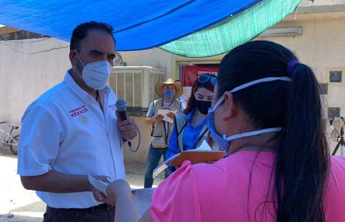 Entrega loera apoyos alimentarios en valle de Juárez por pandemia