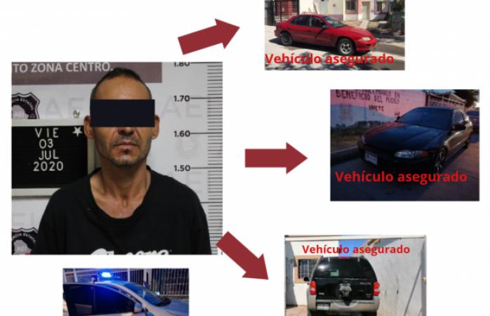 Cae presunto líder de banda de roba carros