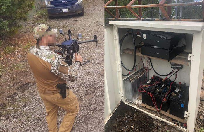 Con dron hallan narcoantena de radio en madera