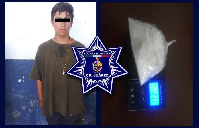 Arrestan a presunto narcomenudista en posesión de 84 dosis de cristal