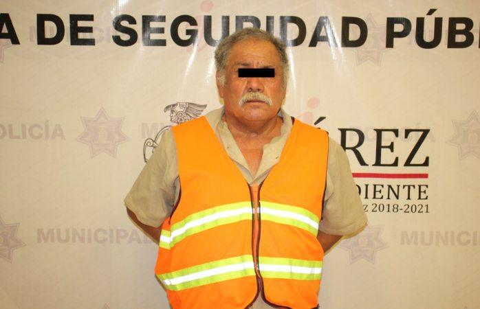 Detienen agentes municipales a sujeto por el delito de violación