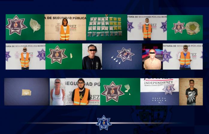 Caen 14 presuntos narcomenudistas