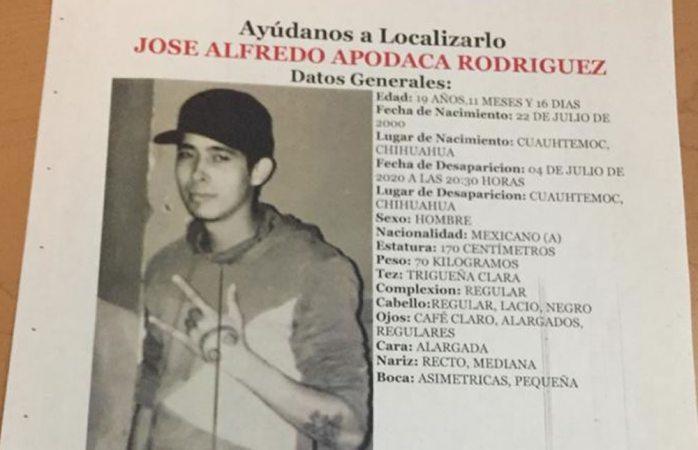 Desaparece joven de 19 años en cuauhtémoc