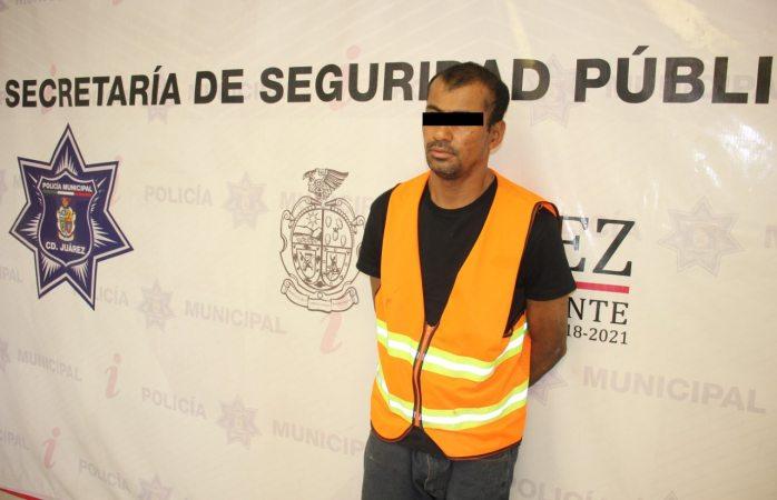 Arrestan a sujeto por el delito de robo a comercio