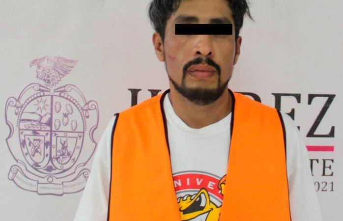 Detienen a presunto narcomenudista en poder de 60 dosis de cristal