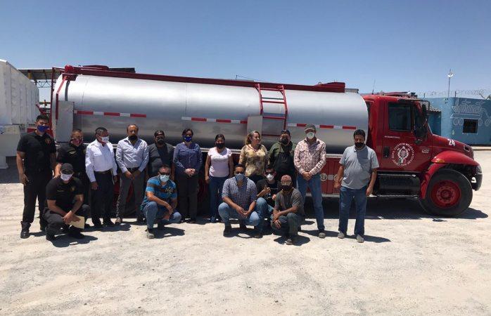 Recibe protección civil donación de tanque para pipa