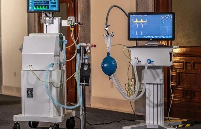 Amlo presenta ventiladores mexicanos para pacientes con covid