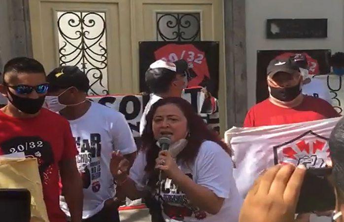 Protesta susana prieto contra corral en cdmx
