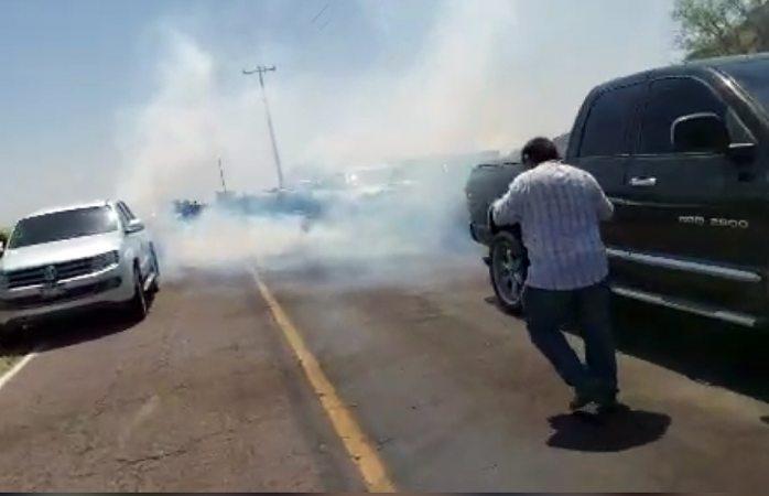 Con gas lacrimógeno dispersa gn a manifestantes en las vírgenes