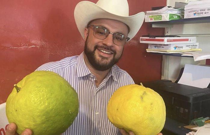 Producen limones gigantes en Guadalupe y Calvo