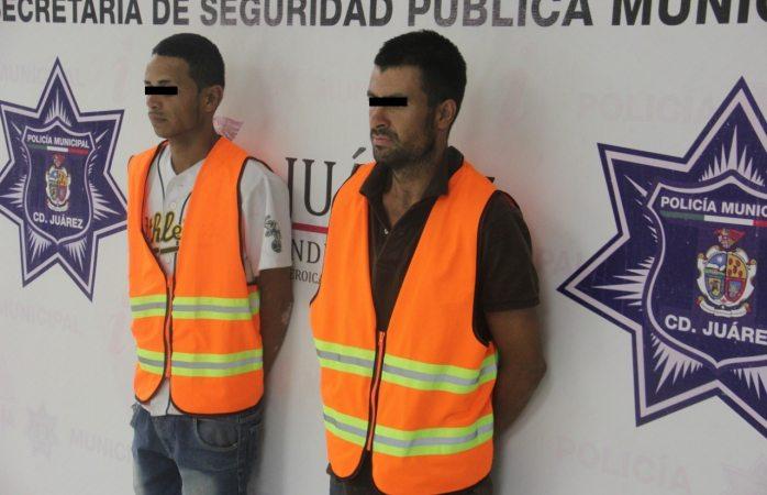 Arrestan a dos sujetos por el delito de allanamiento