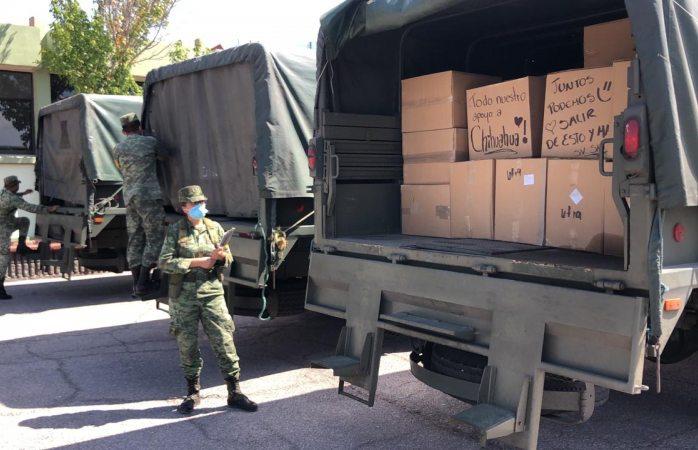 Llegan insumos y material a hospital militar