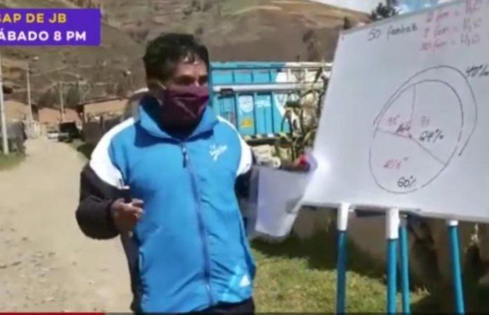Maestro camina 10 kilómetros al día para dar clases casa por casa