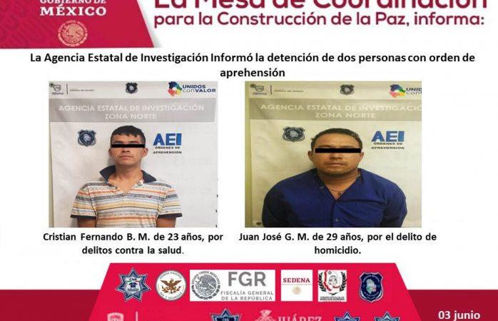 Aseguran 2 Vehiculos Para Investigacion Y 2 Detenidos En