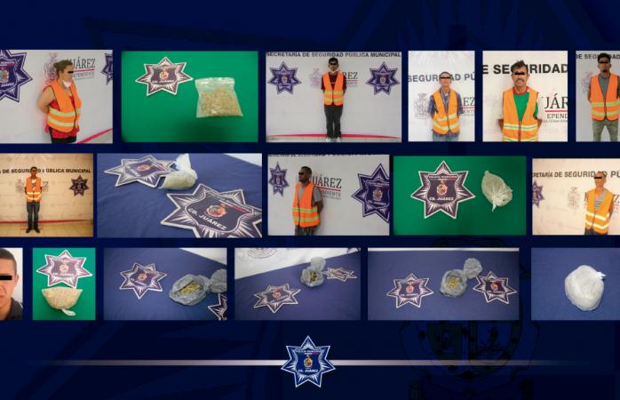 Capturan a nueve presuntos narcomenudistas