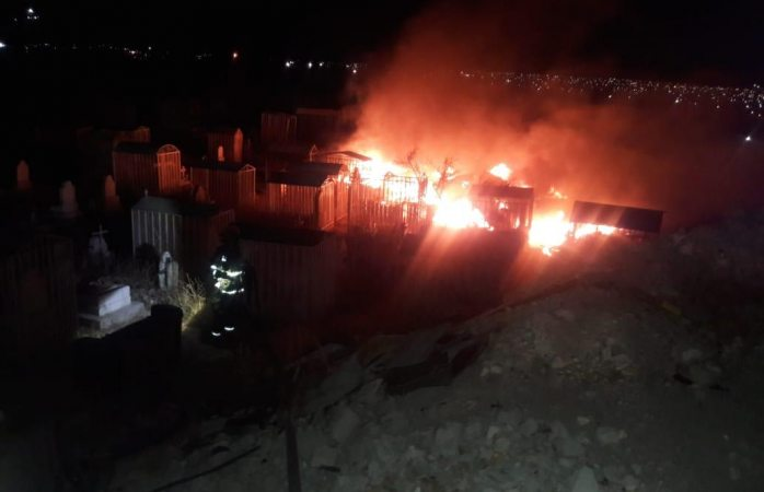 Un total de cinco incendios en baldíos se registraron durante las últimas horas